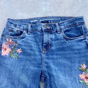 Embroidered DENIM BLUE JEANS boyfriend straight 4